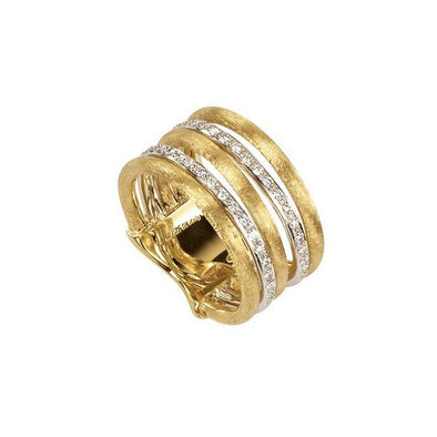 Marco Bicego Ring Jaipur Link Diamond Five Row Ring 6.5