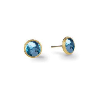 Marco Bicego Earring Jaipur London Blue Topaz Petite Stud Earrings