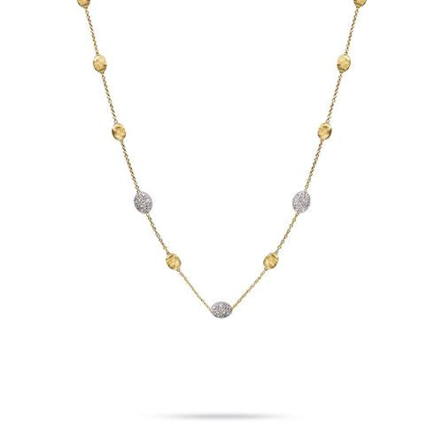 Marco Bicego Necklaces and Pendants Siviglia Diamond Pavé Small Bead Necklace