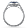 PAGE Estate Engagement Ring Art Deco Style Sapphire Halo 1.21cts Diamond Ring 6.5