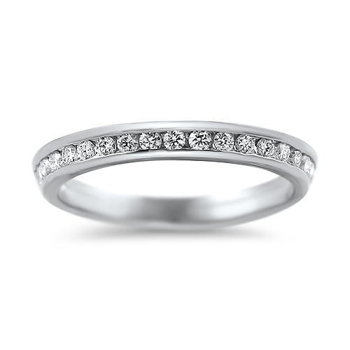 PAGE Estate Wedding Band Channel Set Angled Diamond Ring Guard 6.5