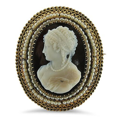 PAGE Estate Pins & Brooches Etruscan Revival Cameo Pin & Pendant