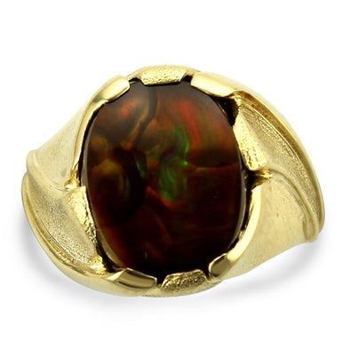 PAGE Estate Men's Jewelry Gents Fire Agate Ring 9.75