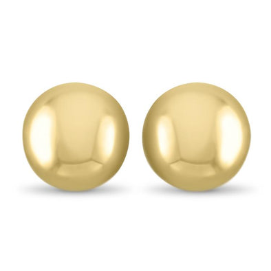 PAGE Estate Earring Gold Dome Statement Studs