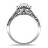 PAGE Estate Engagement Ring Hearts on Fire .80ct Diamond Halo Ring 6.5