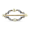 PAGE Estate Pins & Brooches Pearl & Diamond Pin