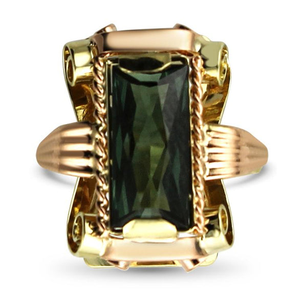 PAGE Estate Ring Spinel & Gold Cocktail Ring 5.75