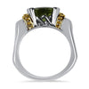 PAGE Estate Ring Sterling Silver & Gold Peridot Ring 5