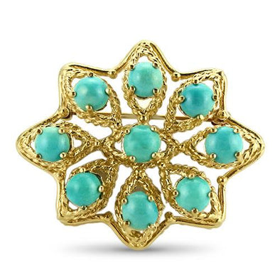 PAGE Estate Pins & Brooches Turquoise Brooch