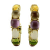 Roberto Coin Earring Shanghai Multi-Gem Hoop Earrings
