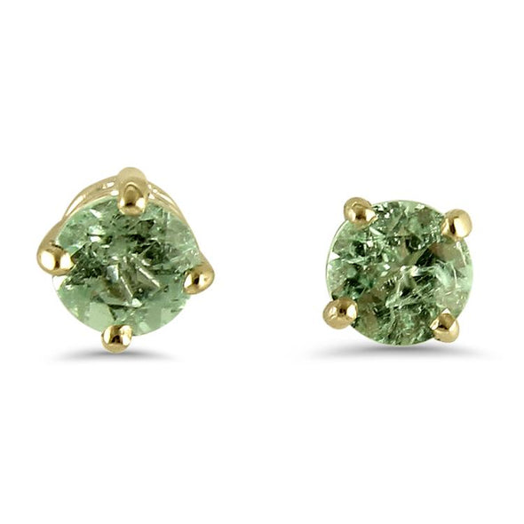 Springer's Collection Earring Light Green Tourmaline Stud Earrings