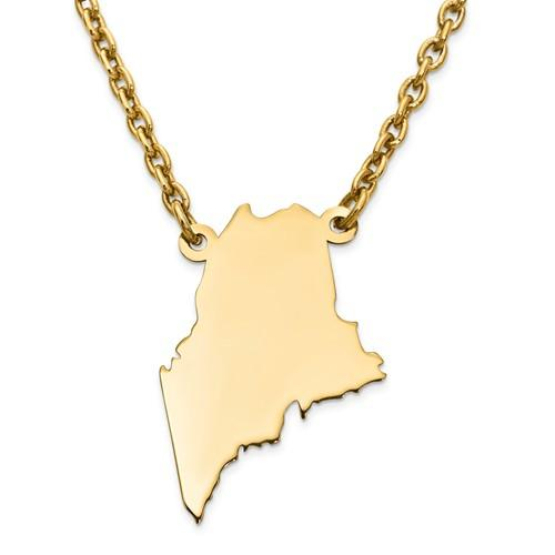 Springer's Collection Necklaces and Pendants Maine State Necklace