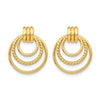 Springer's Collection Earring Open Circle Drop Earrings