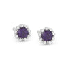 Springer's Collection Earring Petite Alexandrite & Diamond Halo Studs
