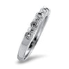 Springer's Collection Ring Stackable Beaded Bar Diamond Band 6.5