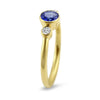 Springer's Collection Ring Tanzanite & Diamond Bezel Ring