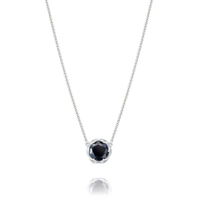 Tacori Necklaces and Pendants Classic Rock Black Onyx Bold Crescent Station Necklace