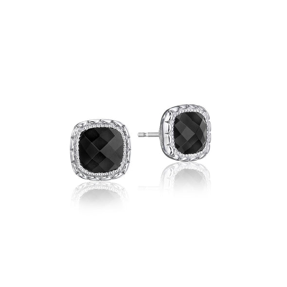 Tacori Earring Cushion Gem Black Onyx Earrings