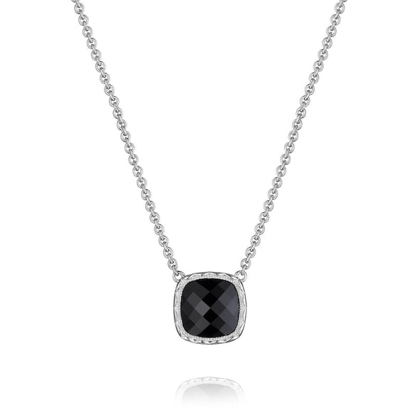 Tacori Necklaces and Pendants Cushion Gem Black Onyx Necklace
