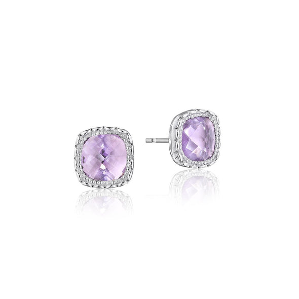 Tacori Earring Cushion Gem Rose Amethyst Earrings