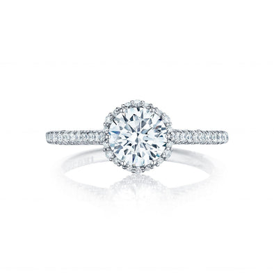 Tacori Engagement Engagement Ring Petite Crescent Halo Engagement Setting