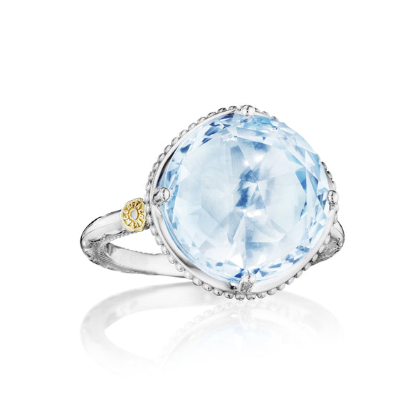 Tacori Ring Gemma Bloom Bold Simple Gem Sky Blue Topaz Ring