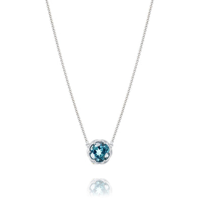 Tacori Necklaces and Pendants Island Rains London Blue Topaz Bold Crescent Station Necklace