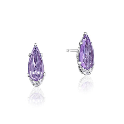 Tacori Earring Pear-Shaped Amethyst Earrings