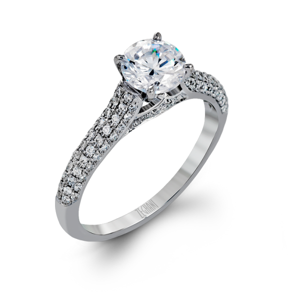 Zeghani Engagement Ring Blindingly Beautiful Solitaire Setting 6.5mm / 6.5