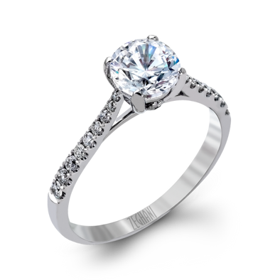 Zeghani Engagement Ring Delicate Diva Solitaire Setting 6.5mm / 6.5
