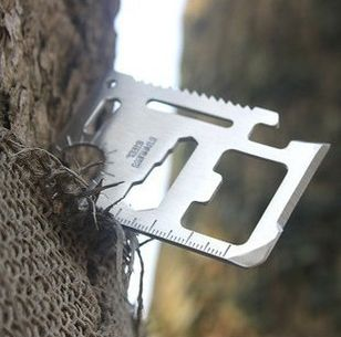 11 in 1 / Credit Card Knife Silver / outdoor camping