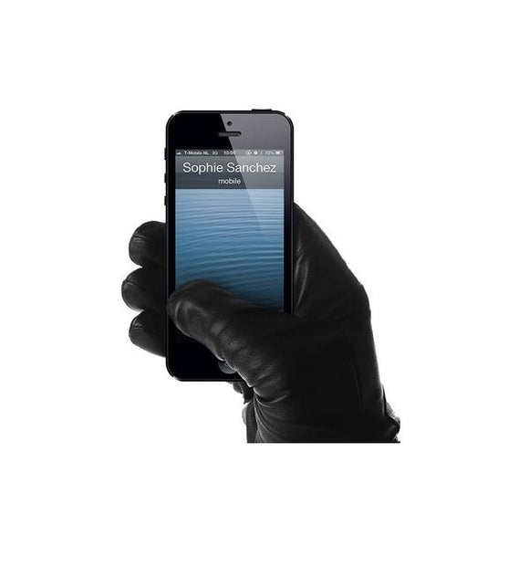 Genuine Leather Touchscreen Gloves