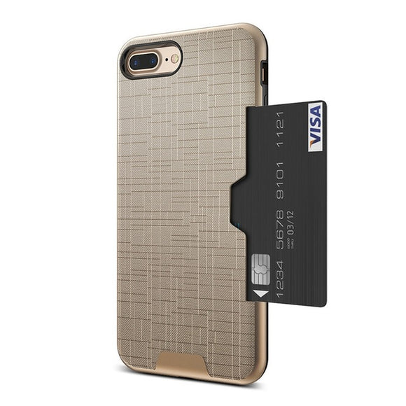 iPhone Case / Card Slot+Armor Cover Capa