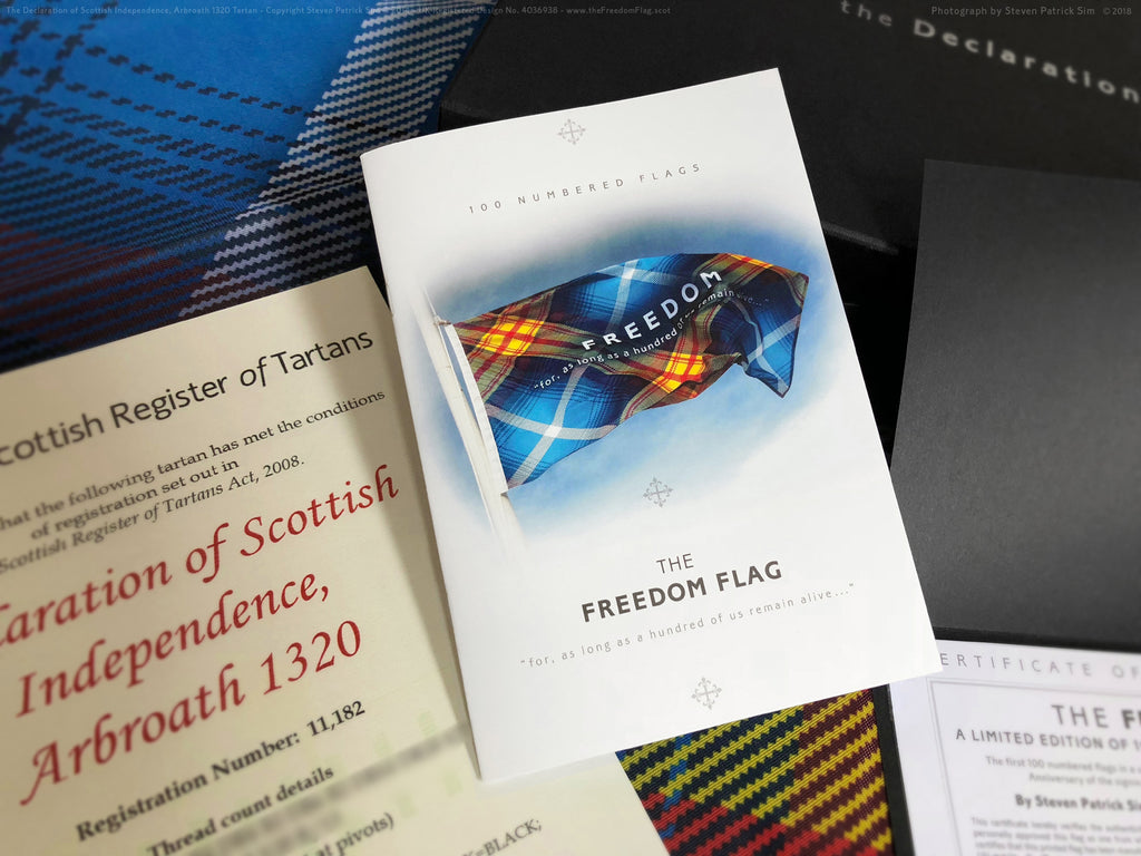 The freedom Flag with 16 page booklet - by Steven Patrick sim the Tartan Artisan