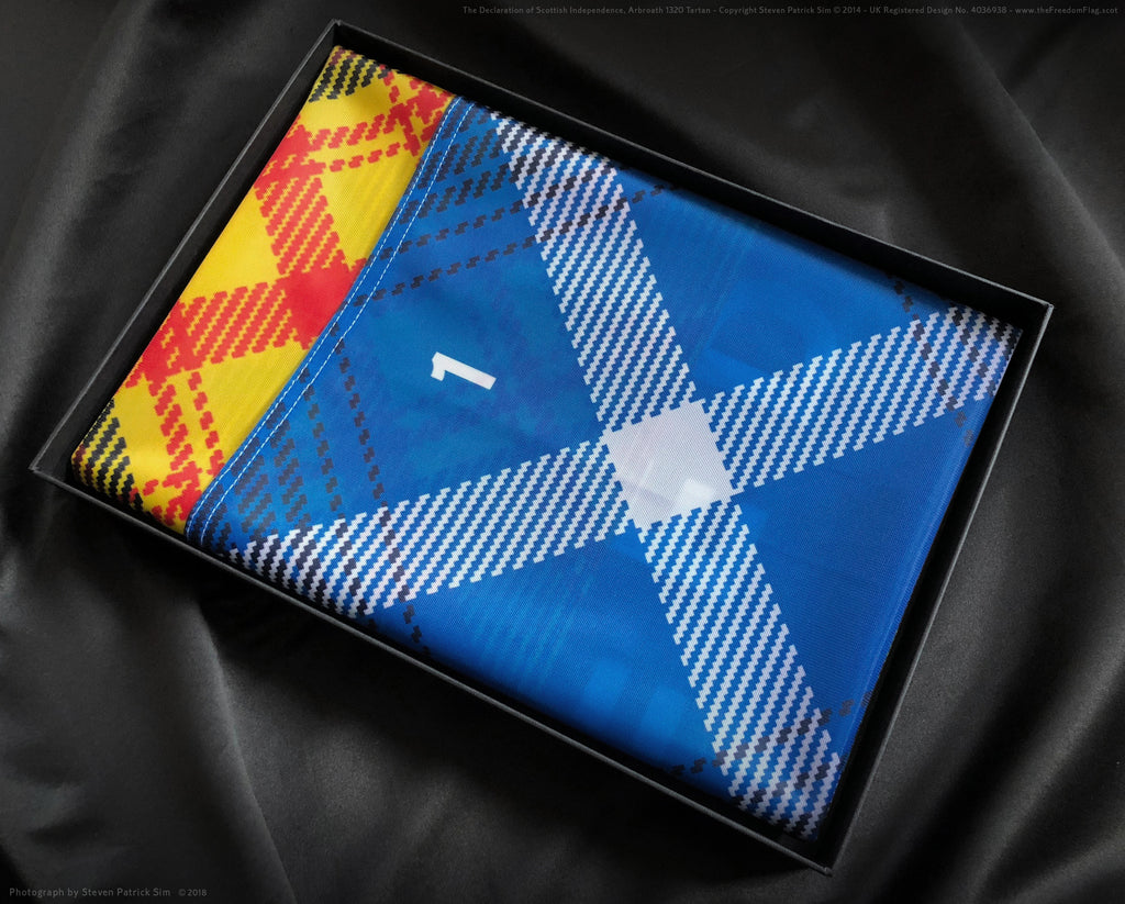 Scottish Independence tartan flag - limited edition boxed and numbered