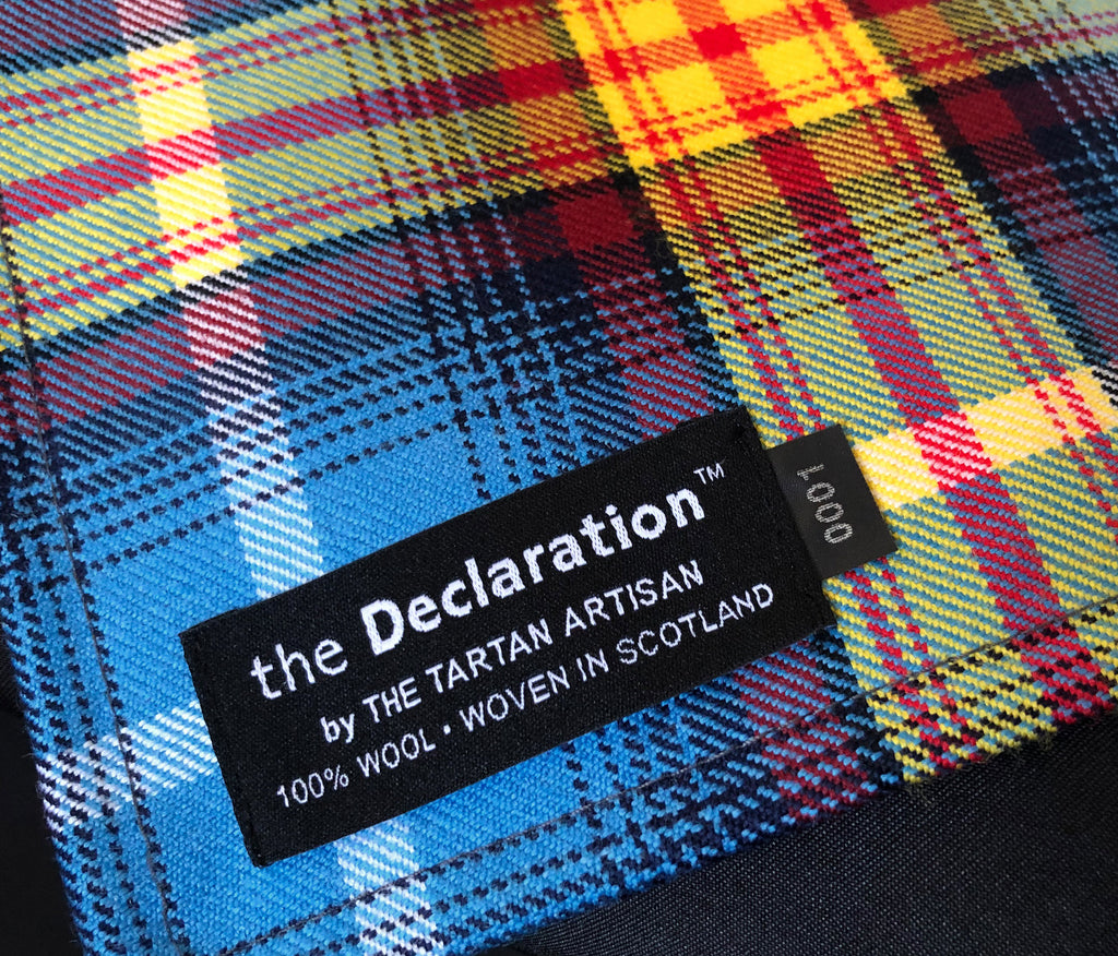 THE DECLARATION Numbered Edition TARTAN Pocket Square