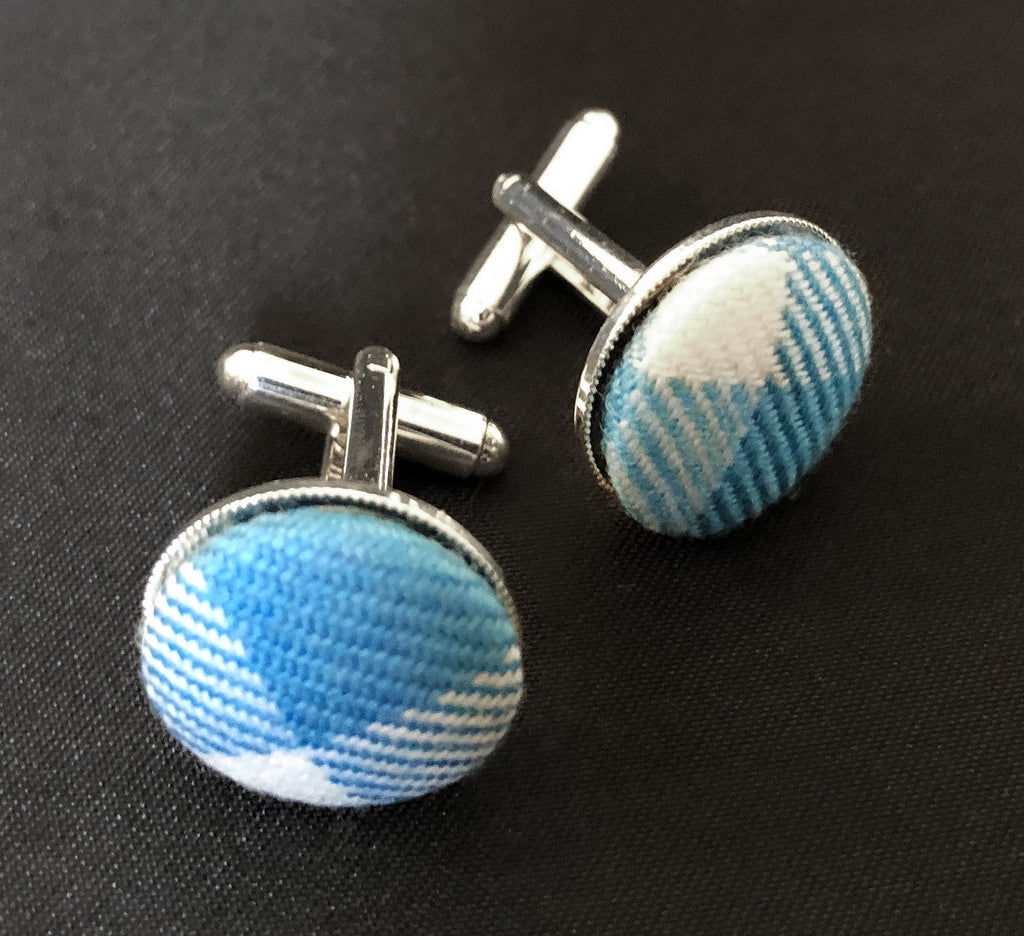 THE DECLARATION TARTAN CUFFLINKS