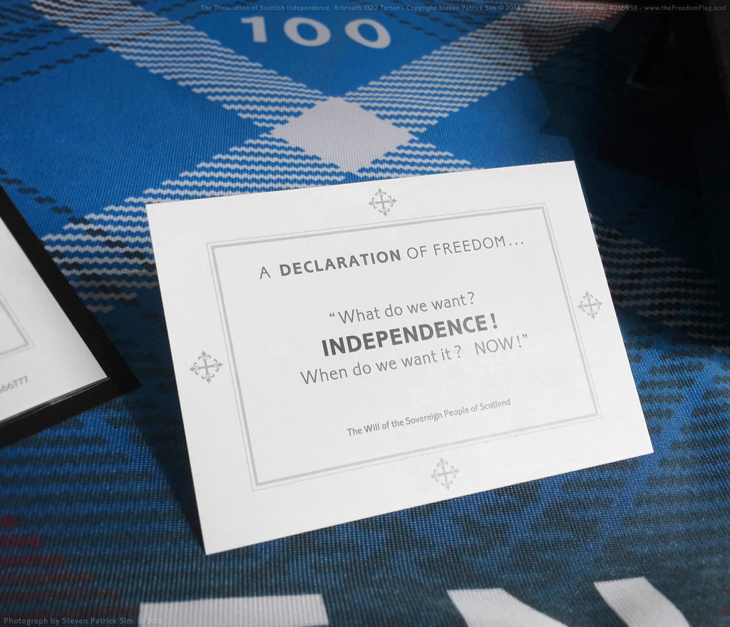 The Independence printed card the Freedom Flag Arbroath