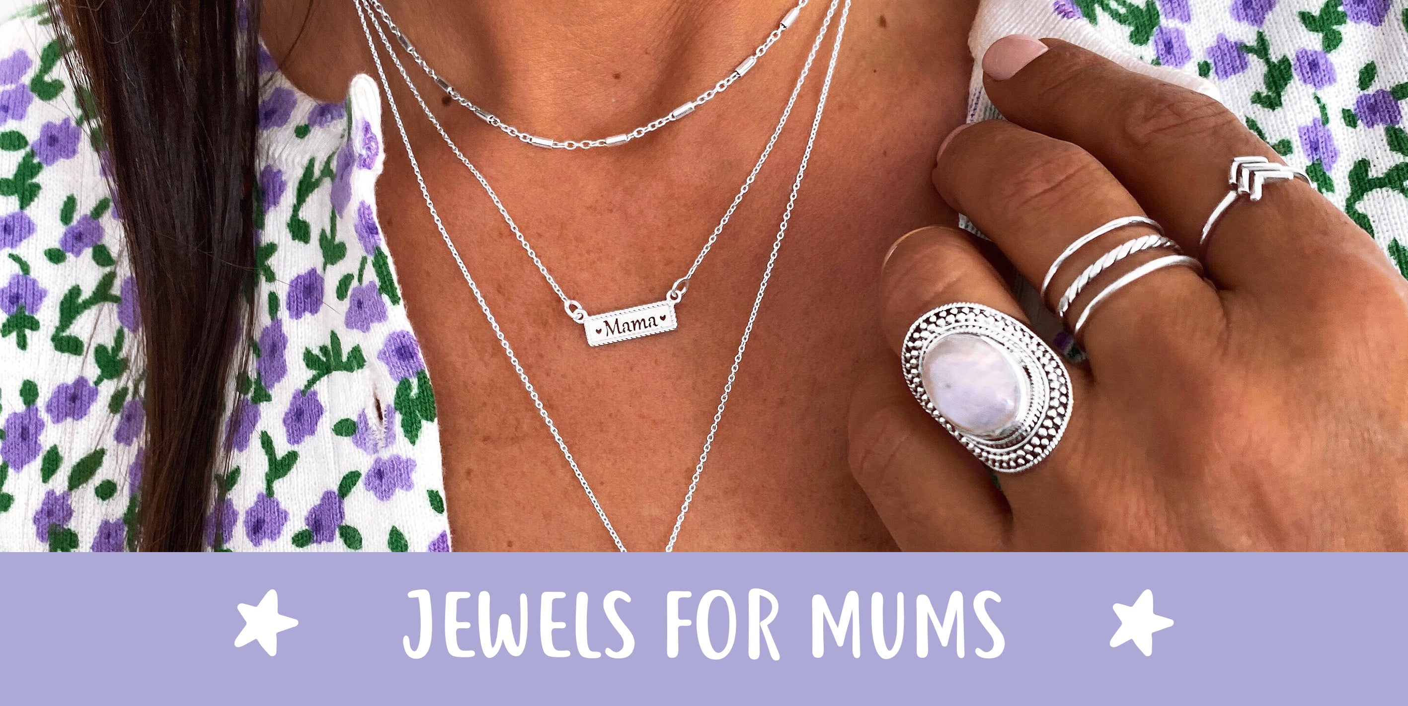 Silver jewels for mum