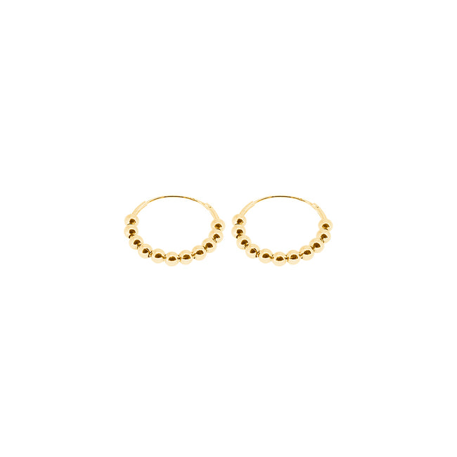 PENDIENTES DABLY (18MM) ORO