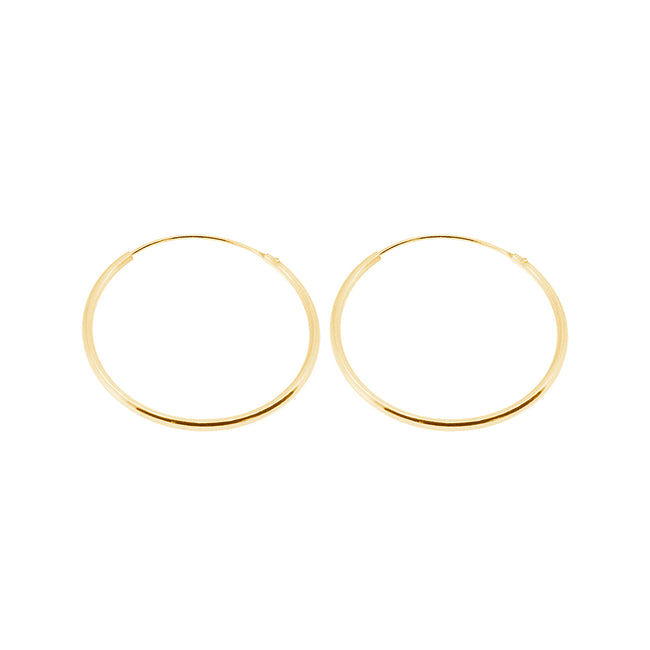 JIBI GOLD EARRINGS (30MM)