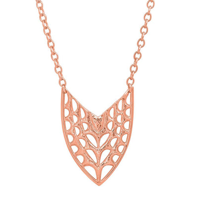 Small Shield Pendant in Rose Gold