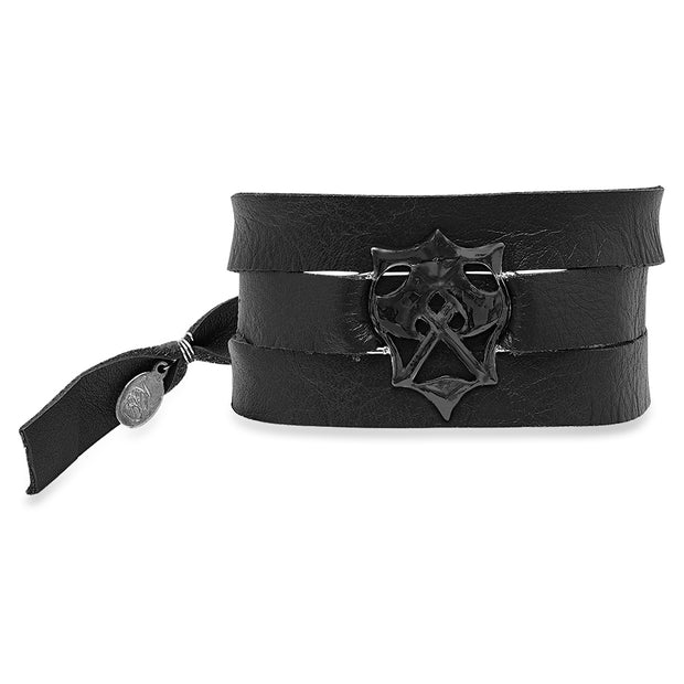 Hatchet Wrap Bracelet in Black Ruthenium