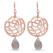 Water Disk Earrings in Rose Gold