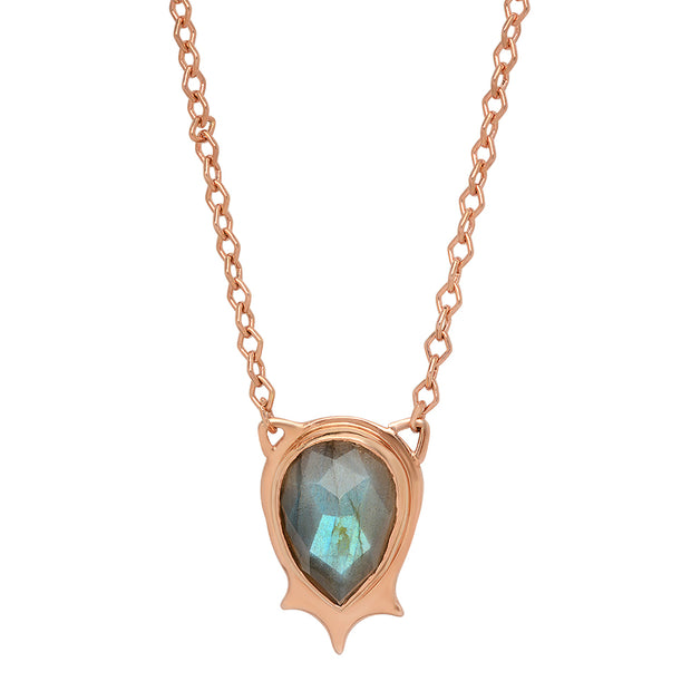 Pear Drop Pendant in Rose Gold