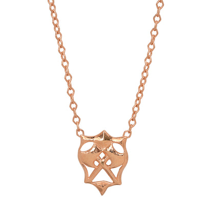 Small Double Hatchet Pendant in Rose Gold