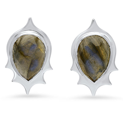 Pear Drop Studs in Sterling Silver