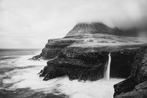 Múlafossur - a wild waterfall in the Faroe Islands (Gásadalur)
