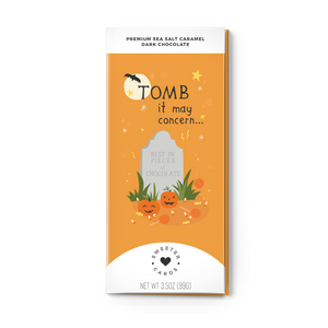 TOMB IT MAY CONCERN <br>Sea Salt Caramel Dark Chocolate