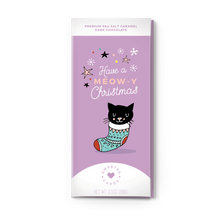 HAVE A MEOW-Y CHRISTMAS<br>Sea Salt Caramel Dark Chocolate